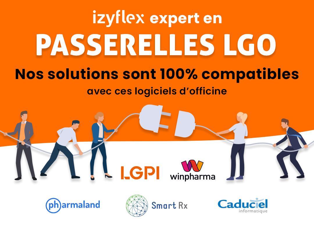 Izyflex est compatible avec logiciels de gestion d'officine